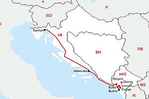 Adriaküste mit Montenegro