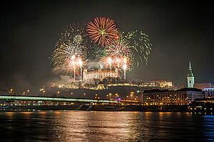 Silvesterglanz auf der Donau