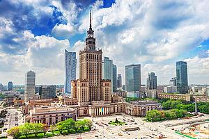 Flugreise Warschau