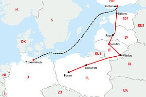 Baltikum mal anders herum