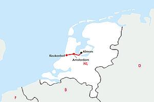 Zur Tulpenblüte nach Holland