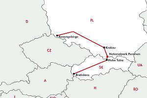 Berggipfel in Polen & Slowakei mit Bratislava & Krakau