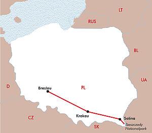 Krakau - Solina See & Waldkarpaten - Breslau