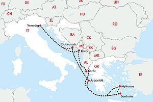 Inselwelt der Kykladen und die Küste Dalmatien erkunden mit der Norwegian Gem