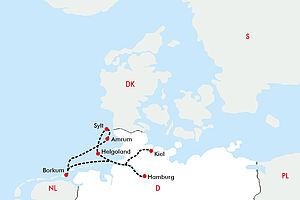 Inselhüpfen in der Nordsee mit der MS Hamburg