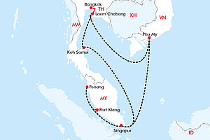 Thailand, Malaysia, Vietnam - ein asiatischer Dreiklang
