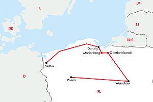 Stettin - Danzig - Warschau - Posen