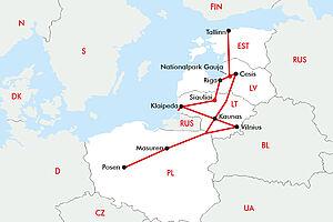 Landschaftliche Perle Baltikum - ohne Fährübernachtung