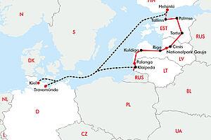 Die große Baltikum Radrundreise