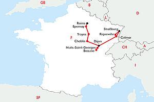Weinregionen Ostfrankreichs