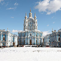 St. Petersburg Smolny Kloster Winter