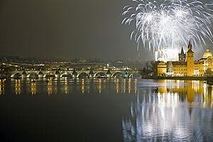 Neujahrsgrüße in Prag