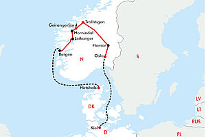 Norwegens beeindruckende Fjordwelt