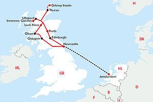 Die schottischen Highlands mit den Orkney Islands