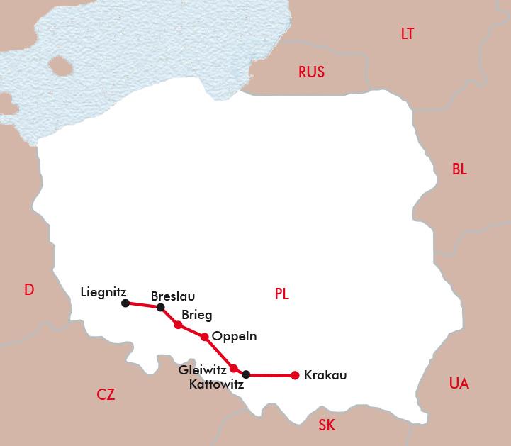 Schlesien Karte Heute.Schlesien Die Höhepunkte Mit Vier Sterne Erlebnis